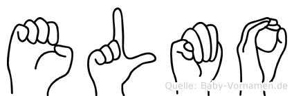 Elmo im Fingeralphabet der Deutschen Gebärdensprache
