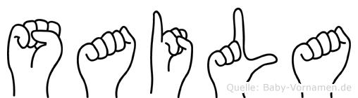 Saila in Fingersprache für Gehörlose
