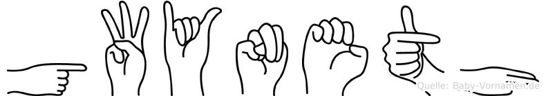 Gwyneth in Fingersprache für Gehörlose