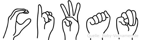 Ciwan in Fingersprache für Gehörlose