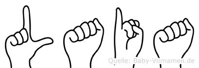 Laia in Fingersprache für Gehörlose