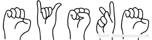 Eyske im Fingeralphabet der Deutschen Gebärdensprache
