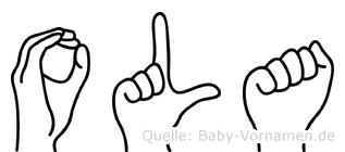Ola im Fingeralphabet der Deutschen Gebärdensprache