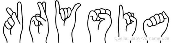 Krysia in Fingersprache für Gehörlose