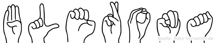 Blerona im Fingeralphabet der Deutschen Gebärdensprache
