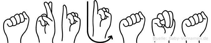 Arijana im Fingeralphabet der Deutschen Gebärdensprache