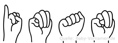 Iman im Fingeralphabet der Deutschen Gebärdensprache