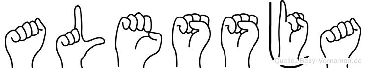 Alessja in Fingersprache für Gehörlose