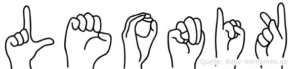Leonik in Fingersprache für Gehörlose