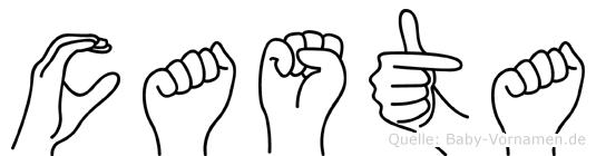 Casta in Fingersprache für Gehörlose