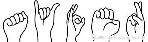 Ayfer in Fingersprache für Gehörlose