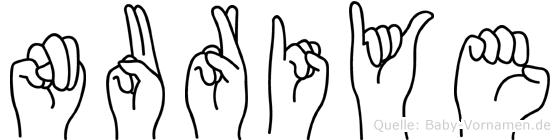 Nuriye im Fingeralphabet der Deutschen Gebärdensprache