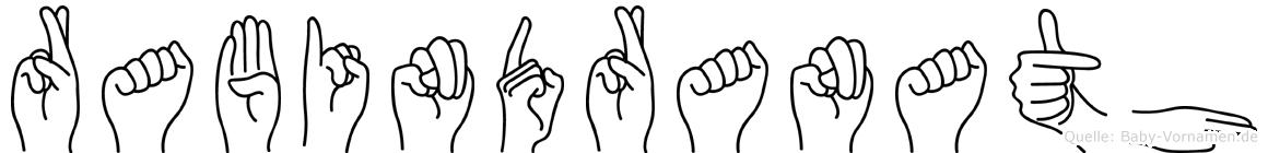 Rabindranath im Fingeralphabet der Deutschen Gebärdensprache
