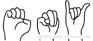 Eny in Fingersprache für Gehörlose
