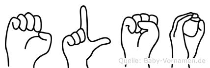 Elso in Fingersprache für Gehörlose