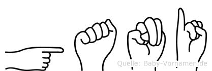 Gani in Fingersprache für Gehörlose