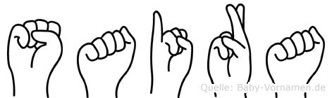 Saira im Fingeralphabet der Deutschen Gebärdensprache