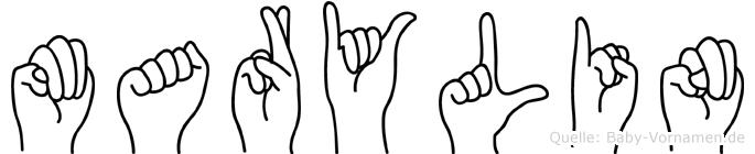 Marylin in Fingersprache für Gehörlose