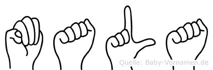 Mala in Fingersprache für Gehörlose