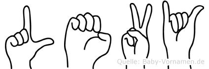 Levy im Fingeralphabet der Deutschen Gebärdensprache