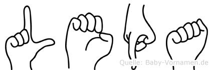 Lepa in Fingersprache für Gehörlose