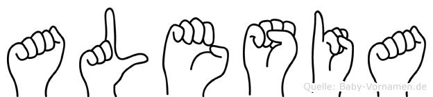 Alesia im Fingeralphabet der Deutschen Gebärdensprache