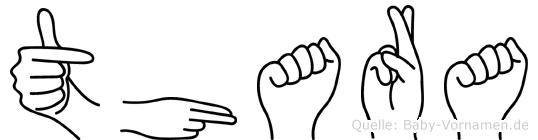Thara in Fingersprache für Gehörlose