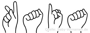Kaia in Fingersprache für Gehörlose