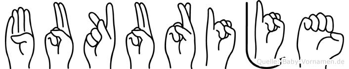 Bukurije in Fingersprache für Gehörlose