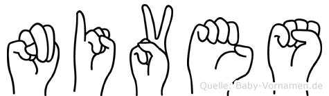 Nives in Fingersprache für Gehörlose