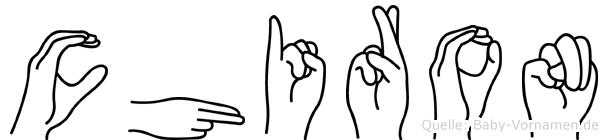 Chiron im Fingeralphabet der Deutschen Gebärdensprache