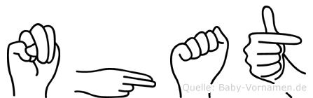 Nhat im Fingeralphabet der Deutschen Gebärdensprache