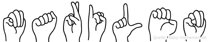 Marilen im Fingeralphabet der Deutschen Gebärdensprache