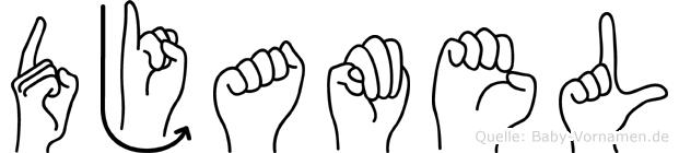 Djamel in Fingersprache für Gehörlose