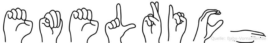 Emelrich im Fingeralphabet der Deutschen Gebärdensprache