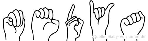 Medya in Fingersprache für Gehörlose