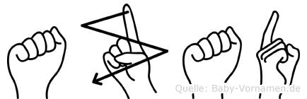 Azad in Fingersprache für Gehörlose