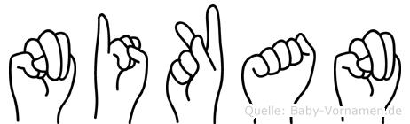 Nikan in Fingersprache für Gehörlose