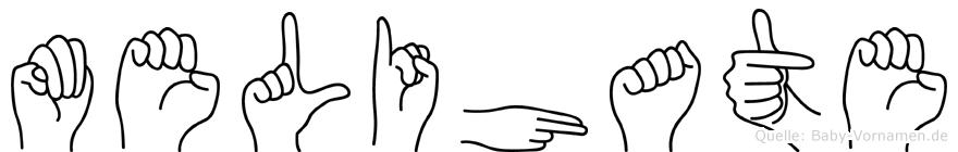 Melihate im Fingeralphabet der Deutschen Gebärdensprache