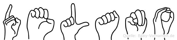 Delano im Fingeralphabet der Deutschen Gebärdensprache