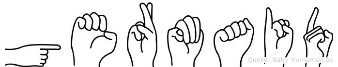 Germaid in Fingersprache für Gehörlose