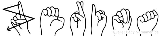 Zerina in Fingersprache für Gehörlose