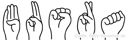 Busra im Fingeralphabet der Deutschen Gebärdensprache