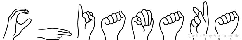 Chiamaka im Fingeralphabet der Deutschen Gebärdensprache