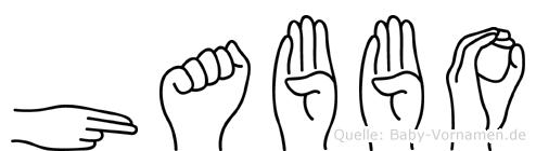 Habbo im Fingeralphabet der Deutschen Gebärdensprache