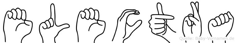 Electra im Fingeralphabet der Deutschen Gebärdensprache