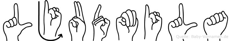 Ljudmila in Fingersprache für Gehörlose
