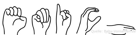 Emich im Fingeralphabet der Deutschen Gebärdensprache