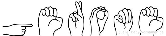 Gerome in Fingersprache für Gehörlose