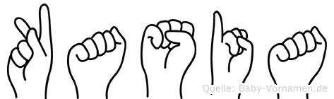 Kasia im Fingeralphabet der Deutschen Gebärdensprache